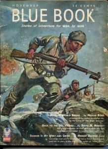 BLUE BOOK PULP-NOV 1942-VG/FN-STOOPS COVER-BEDFORD-JONES- NELSON BOND-BEN VG/FN