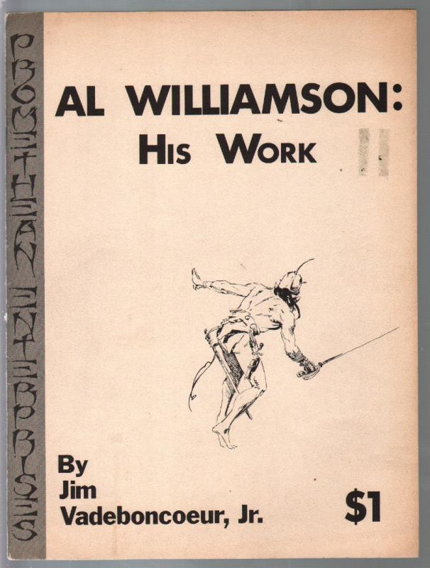Al Williamson: His Work 1971-detailed checklist-Jim Vadeboncoeur Jr -FN-