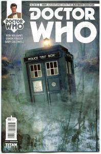 DOCTOR WHO #3 B, NM, 11th, Tardis, 2014, Titan, 1st, more DW in store, Sci-fi