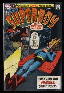 Superboy #166 VF 8.0 DC Comics Superman Neal Adams Cover!