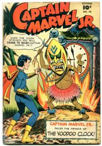 Captain Marvel Jr. #78 1949- Fawcett Golden Age- Voodoo clock G