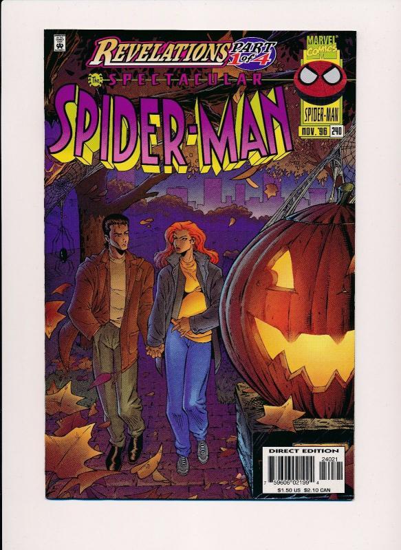 Spectacular Spider-Man #240 Revelations Both Covers Marvel Comics ~VF/NM (HX165)
