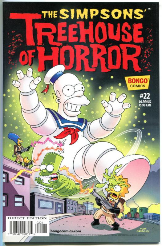 SIMPSONS TREEHOUSE OF HORROR #22, NM, Monsters, 2016, Homer, Bart, Bongo