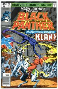 Marevel Premiere #52- comic book 1980-Black Panther vs KKK vf-