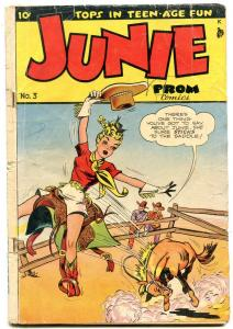 Junie Prom #3 1948- Spicy western cover- Teen humor obscure G-