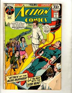 Lot Of 6 Action Comics Feat. Superman # 403 404 407 408 409 435 Batman Flash GK5