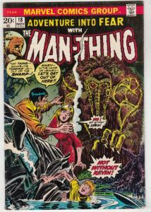 Adventures Into Fear #18 (Nov-73) FN Mid-Grade Man-Thing
