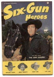 Six-Gun Heroes #12 1952- Western Comic- Lash LaRue VG-