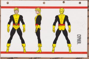 Official Handbook of the Marvel Universe Sheet- Cypher
