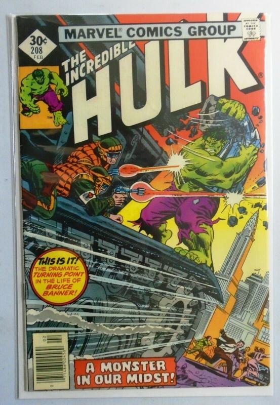 Incredible Hulk (1st Series) #208, Direct Edition 7.0 - 1977