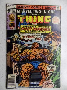 MARVEL TWO-IN-ONE # 37 THING DAREDEVIL