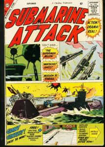 SUBMARINE ATTACK VOL 2 # 18 COMMIES WW II WAR BOMBS '59 VG/FN