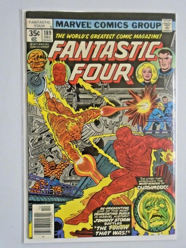 Fantastic Four #189 - Newsstand -  1st First Series - see pics - 6.0 - 1977