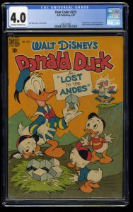 Four Color #223 CGC VG 4.0 Off White to White Carl Barks Art Disney Donald Duck!