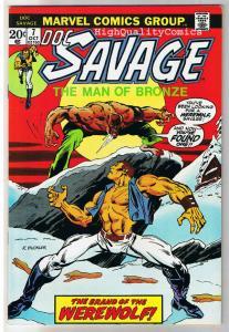 DOC SAVAGE #7, VF, Man of Bronze, Werewolf, 1975