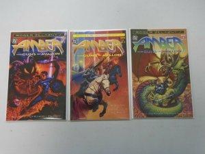 Amber Guns of Avalon set #1-3 avg 8.0 VF (1996)