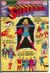 Action #373 1969-DC-Supergirl-Legion- Bizarro-VG