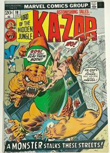 ASTONISHING TALES#18 VF 1973  KA-ZAR MARVEL BRONZE AGE COMICS