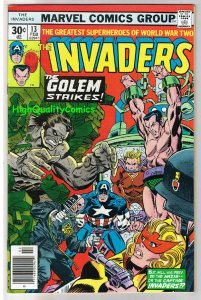 INVADERS #13, VF+, Captain America, Human Torch, 1975, more in store