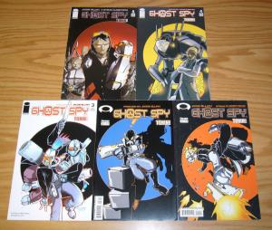 Ghost Spy 1-5 VF/NM complete series bad girl bounty hunter in cyberpunk distopia