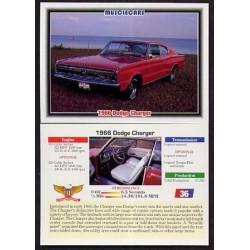 1992 Collect-A-Card Musclecars 1966 DODGE CHARGER #36