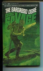 DOC SAVAGE-THE SARAGASSO OGRE-#18-ROBESON-VG- JAMES BAMA COVER VG