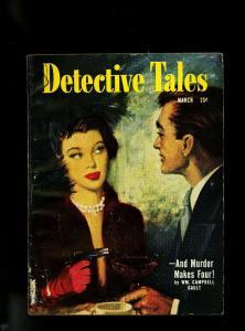 Detective Tales Pulp March 1951- John D Macdonald- VG/F