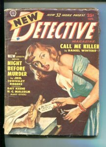 NEW DETECTIVE-SEPT 1950-HARD BOILED PULP FICTION-ROGERS-MYSTERY & CRIME-good/vg