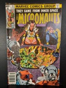 Micronauts #14 (1980) newsstand
