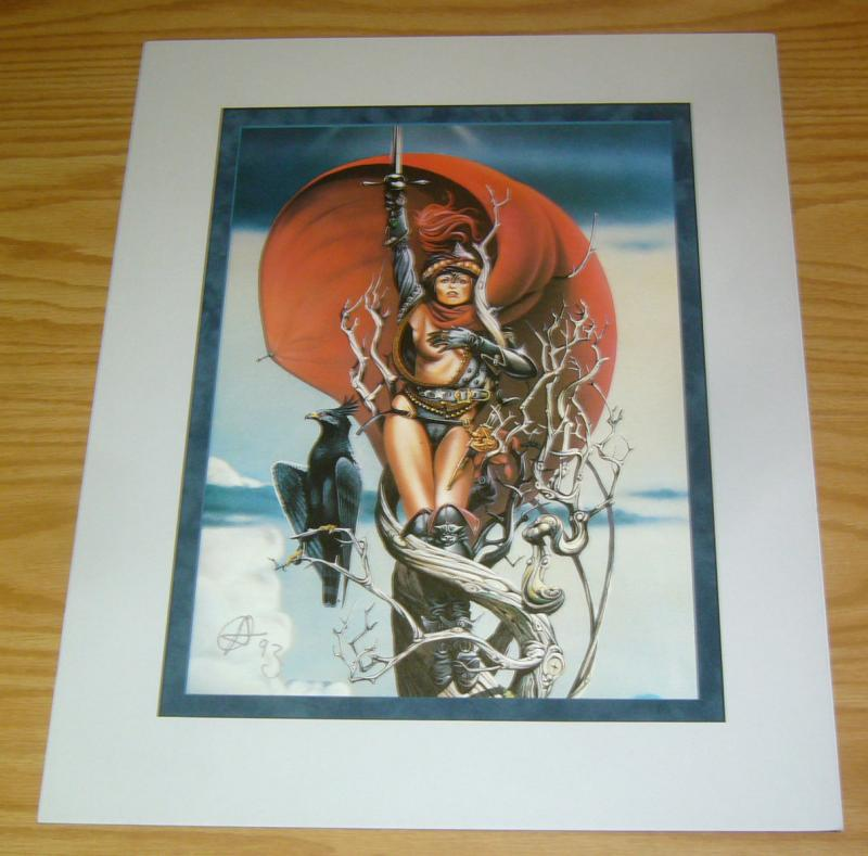 Chris Achilleos' Amazons Print: Sword Mistress - signed bad girl art
