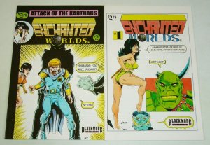Enchanted Worlds #1-2 FN complete series - blackmore - indy comics set lot