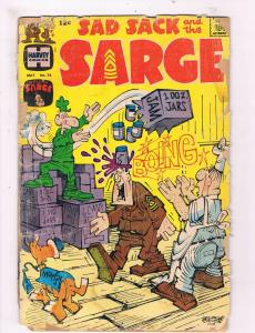 Sad Sack & The Sarge # 74 GD 1967 Harvey Silver Age Comic Book Army JH2