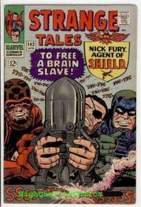 STRANGE TALES 143, FN+, Nick Fury, Dr Strange, Jack Kirby, Steve Ditko, 1966
