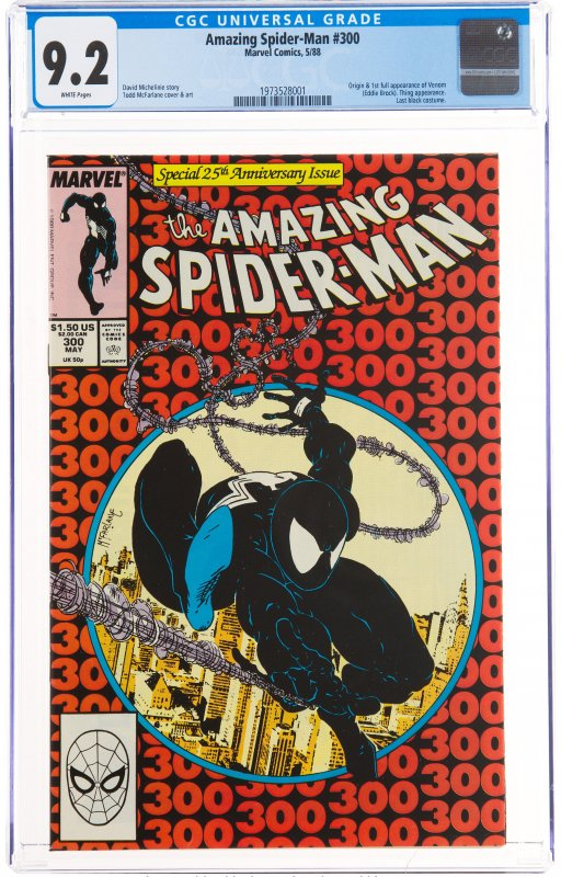 The Amazing Spider-Man #300 (Marvel, 1988) CGC NM- 9.2 White pages. Origin an...