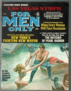 For Men Only 3/1966 Atlas-Mort Kunstler GGA cover-Earl Norem-VG