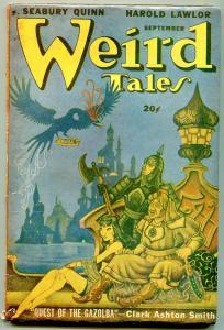Weird Tales Pulp September 1947- Clark Ashton Smith- Seabury Quinn VG