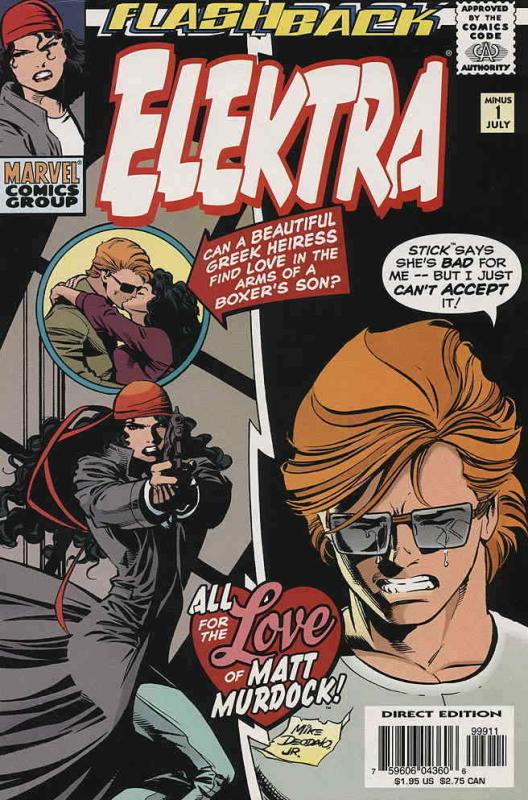 Elektra (2nd Series) #Minus 1 VF/NM; Marvel | save on shipping - details inside
