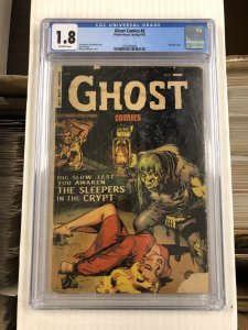 Ghost Comics #6 CGC 1.8 FR/G fiction house 1953 golden age JACK ABEL horror