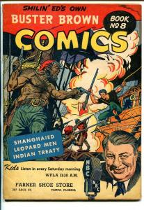 Buster Brown  #8 1940's-Smilin Ed-piracy cover-Leopard Men-VG/FN