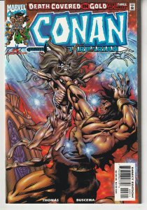 Conan – Death Covered in Gold # 3 Roy Thomas and John Buscema return !