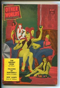 Other Worlds 5/1957- Bizarre GGA cover-Pulp fiction by Don Wilcox-Marion Zimm...