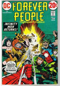 FOREVER PEOPLE #11, VF,  Jack Kirby, Infinity Man, 1972, more JK in store