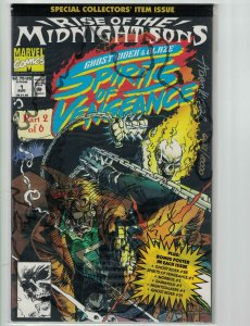 Ghost Rider & Blaze: Spirits of Vengeance #1 VF/NM signed w/COA (#6,627/10,000)
