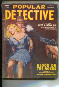 Popular Detective 3/1951-Thrilling-Incredible Good Girl Art bondage cover-Wil...