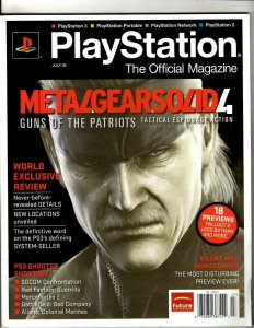 2 Magazines Playstation Official Metal Gear Solid Guide TPB Magazines J342