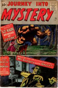 Journey Into Mystery  #75 (Atlas, 1961) VG- 3.5 - Kirby, Ditko