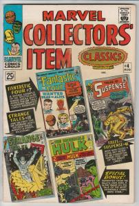 Marvel Collectors' Item #4 (Aug-66) VF/NM High-Grade Fantastic Four, Mr. Fant...