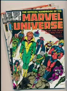 LOT OF 3-MARVEL UNIVERSE BOOK OF DEAD I&II, &BOOK OF WEAPONS #13-15 VF (PF743)