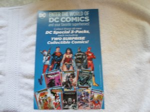 ENTER THE WORLD OF DC COMICS & YOUR FAVORITE SUPERHEROES CARBOARD AD.# 2