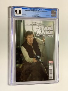 Journey to Star Wars The Force Awakens 3 movie variant cgc 9.8 photo han solo